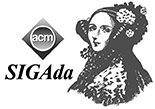 SIGADA's logo combines the ACM logo with the image of English mathematician Augusta Ada King, Countess of Lovelace (née Byron; 10 December 1815 – 27 November 1852)