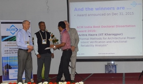 Aritra Hazra Dissertation Award winner