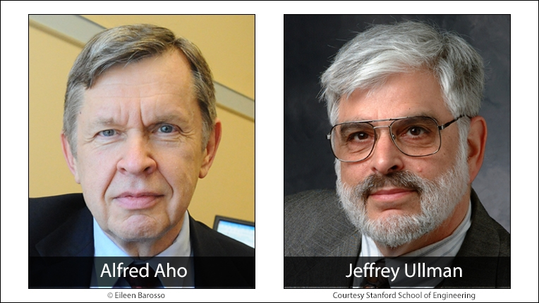 2020 ACM A.M. Turing Award recipients Alfred Aho and Jeffrey Ullman