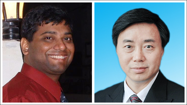 Photo of TKDD's co-EICs Charu Aggarwal and Xindong Wu