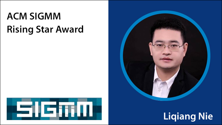 ACM SIGMM Rising Star Award recipient Liqiang Nie